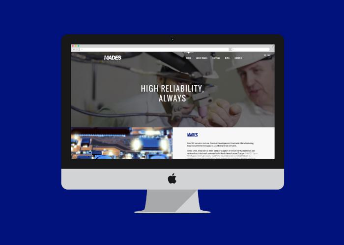 Diseño web fabricación aeroespacial y defensa