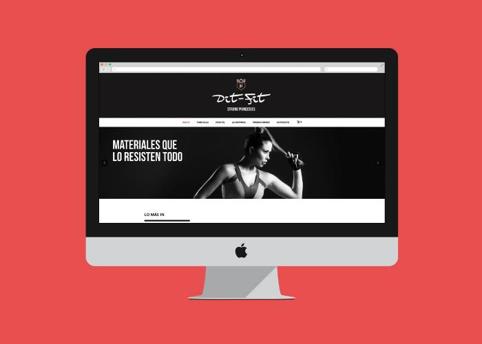Diseño tienda online marca de ropa de fitness