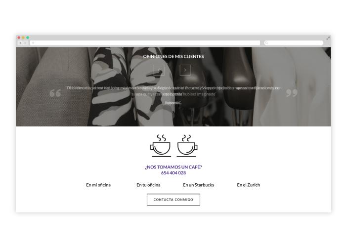 Diseño web asesora de imagen