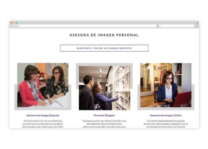 Diseño web asesora de imagen Barcelona