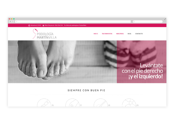Diseño Web para podología