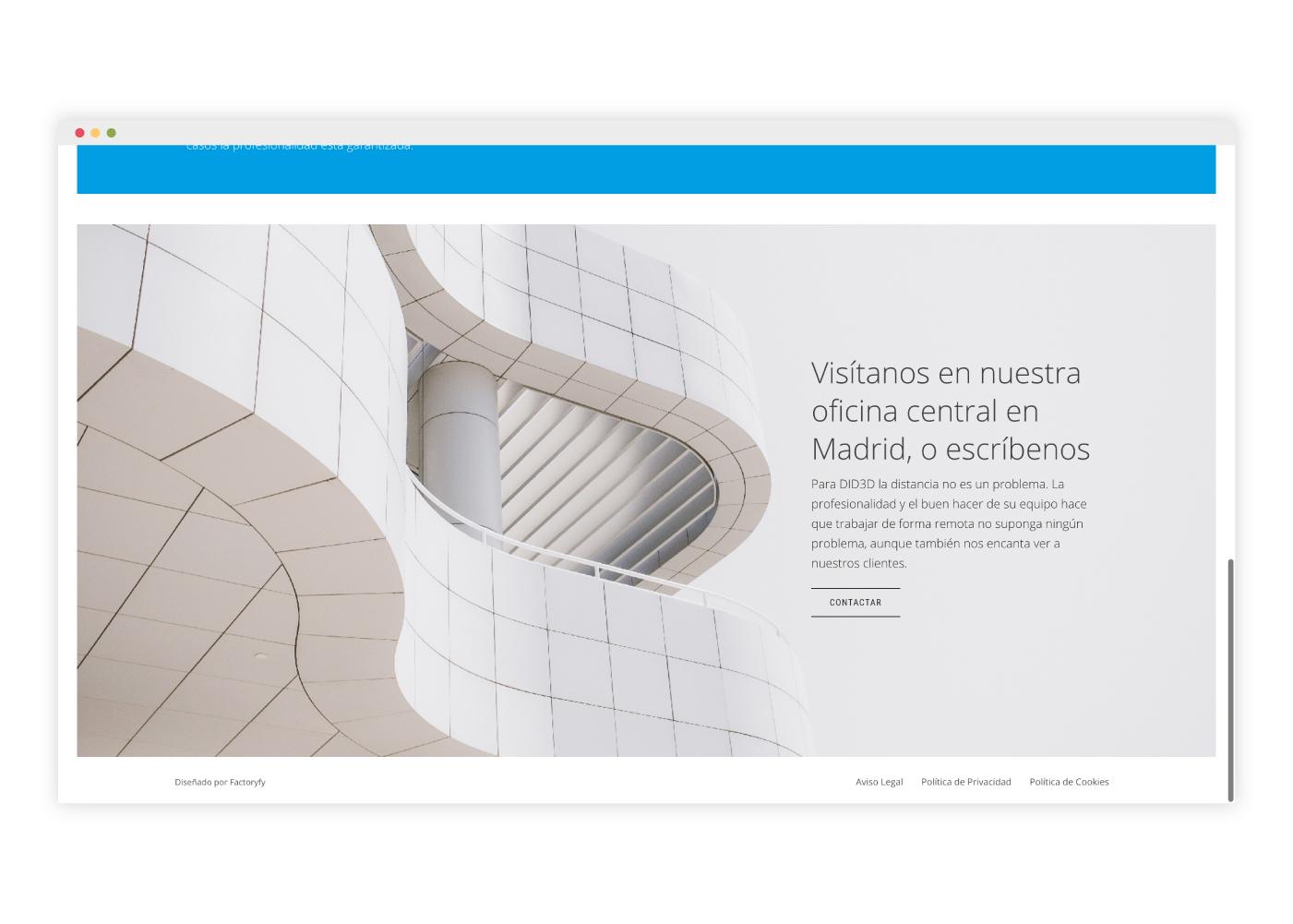 diseño web arquitecto edificio singular