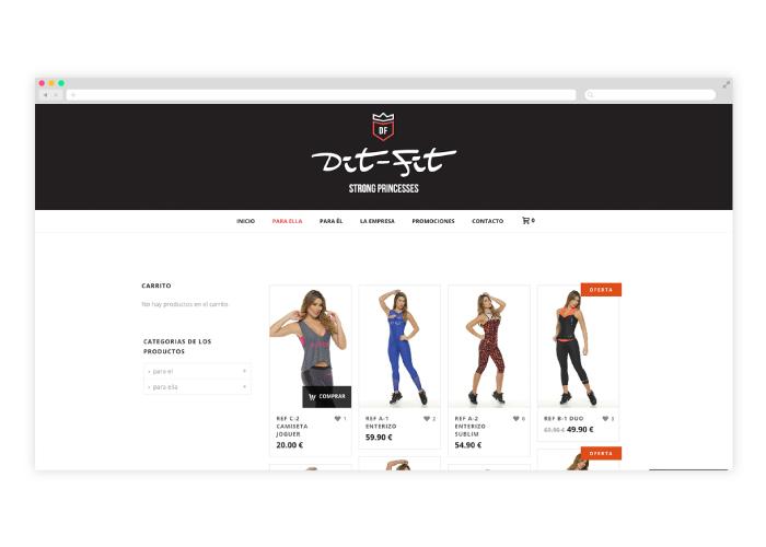 creación tienda online gym