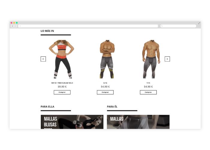 Diseño web mallas hombres
