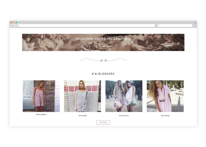 Diseño tienda web diseñadora ropa femenina