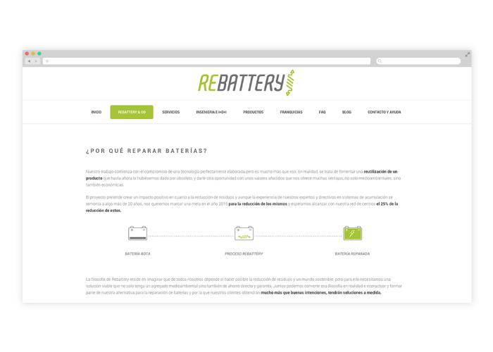 Diseño de web para empresa de reparación de baterías