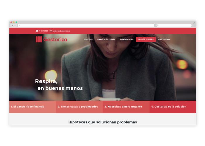 diseñador web financiera Madrid