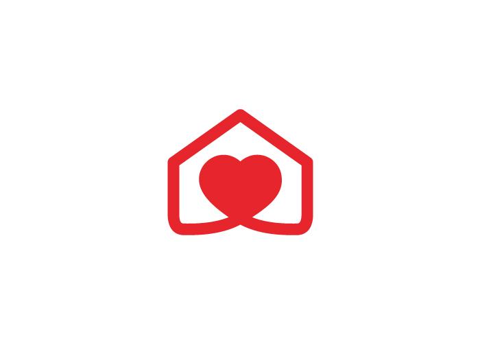 Diseño logotipo corazón´y casa