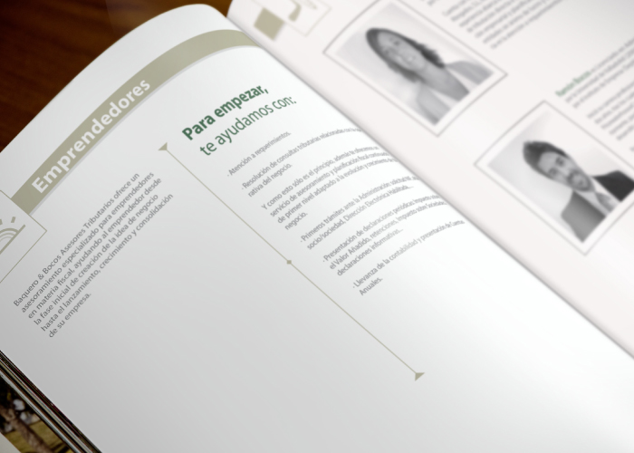 Diseño de dossier para empresa de asesores tributarios