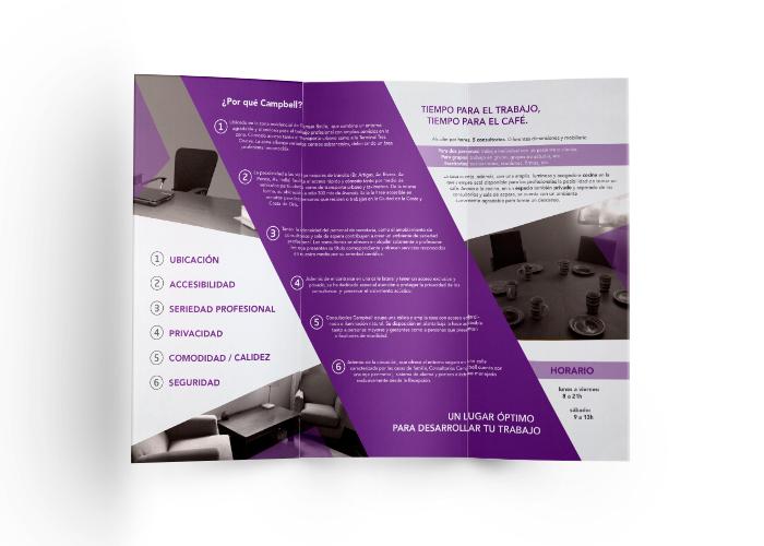 Diseño de tríptico para empresa de consultoría