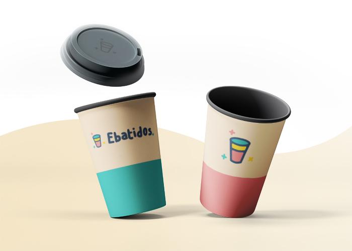Diseño de logotipo para productos ecológicos para batidos