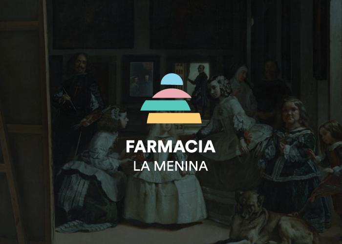 diseño logo de farmacia con motivo de meninas