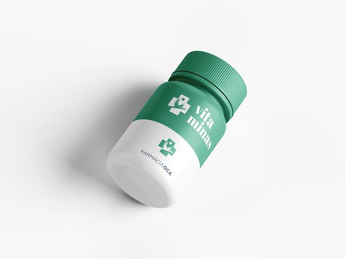 diseño logo bote de farmacia