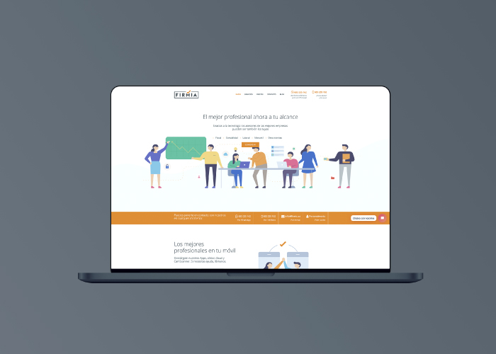 Diseño de página web para empresa sector legal