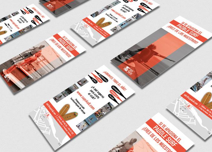 Diseño de flyer para una empresa de paddle surf