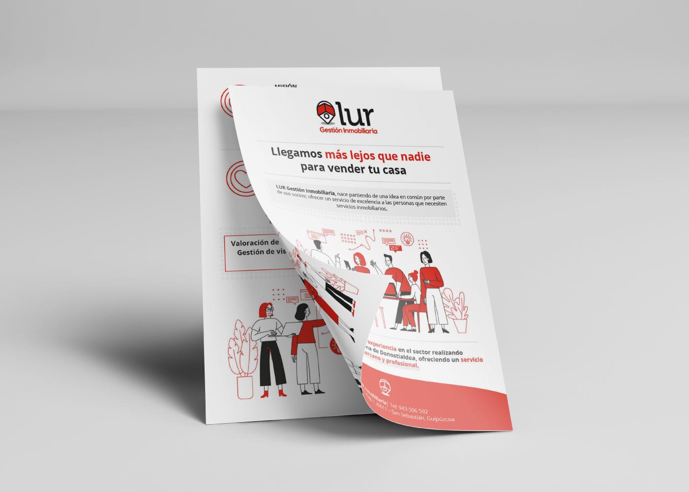 Flyer para gestión inmobiliaria