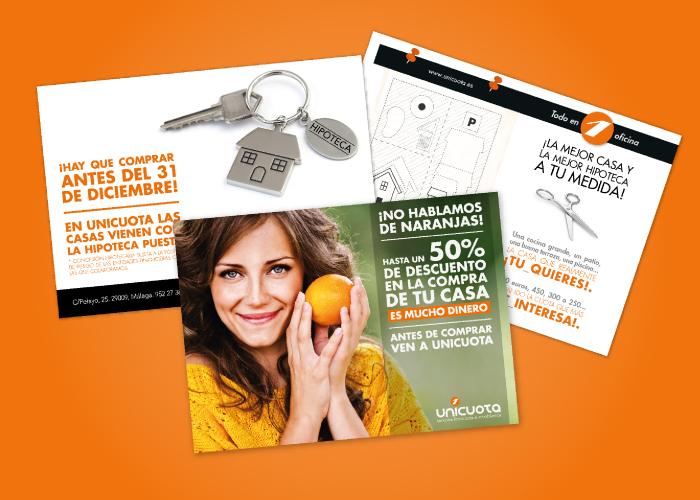 Diseño de flyer de promoción para empresa inmobiliaria de Málaga