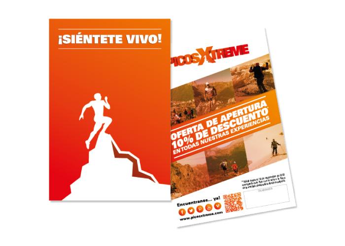 Diseño de flyers de promoción para empresa que organiza actividades de montaña
