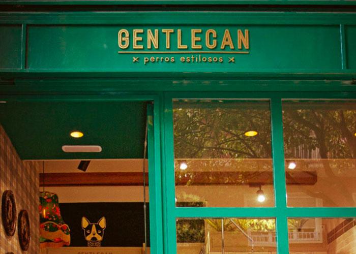 Diseño del cartel de la fachada de Gentlecan, una peluquería canina