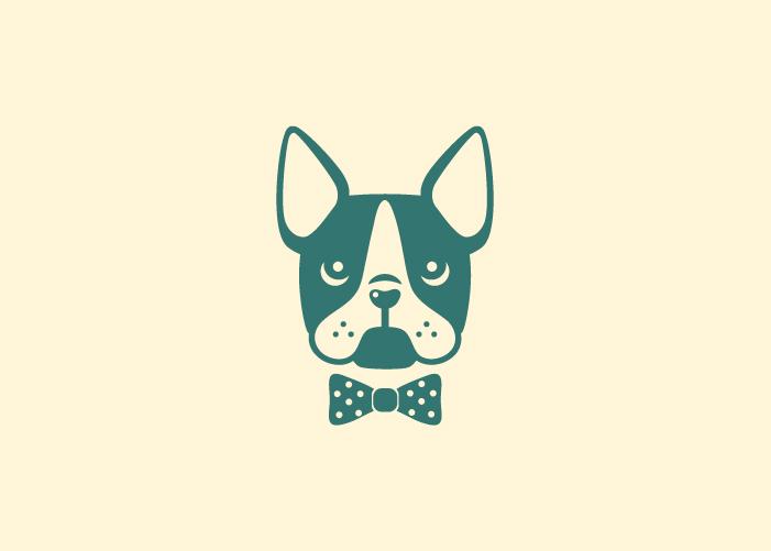diseño logotipo boston terrier