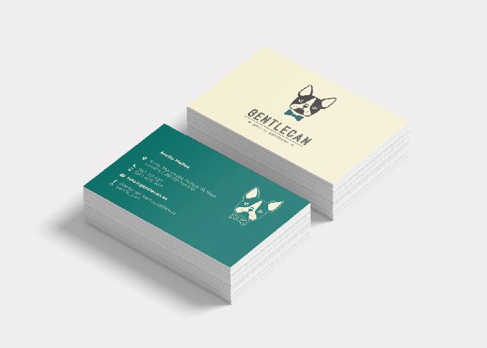 diseño tarjetas peluquería canina