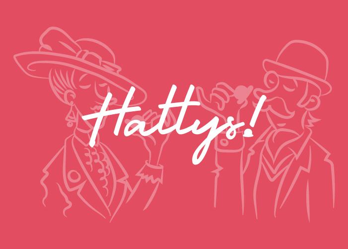 Diseño logo Hattys repostería natural