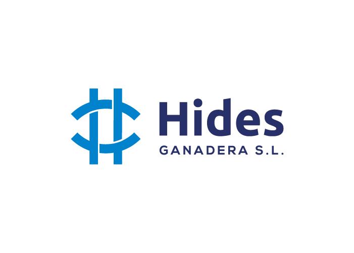 Diseño de logo de Hides Ganadera en fondo blanco