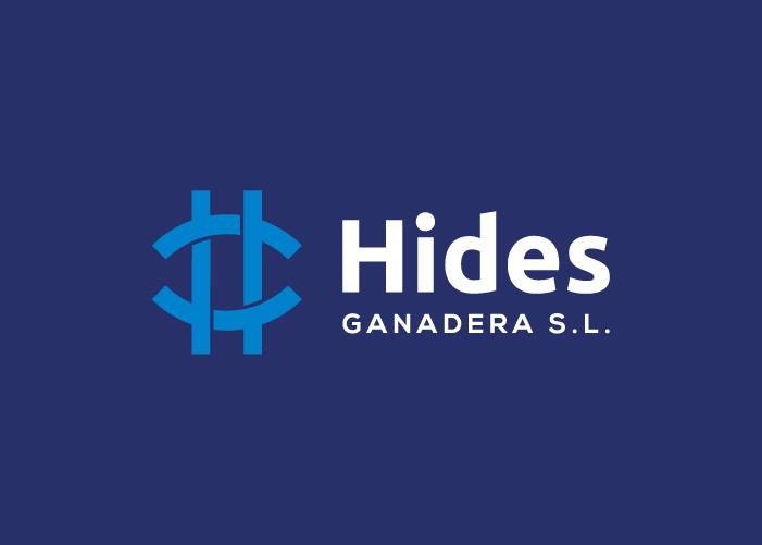 Diseño de logotipo de hides ganadera en logo negativo