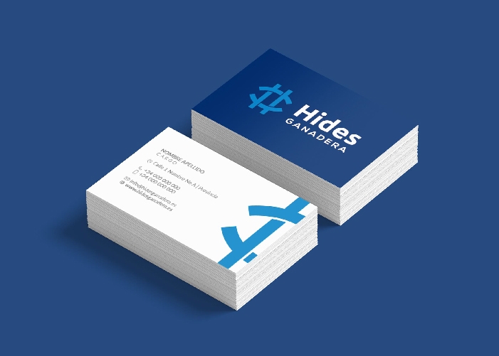 Diseño de tarjetas de visita de Hides Ganadera