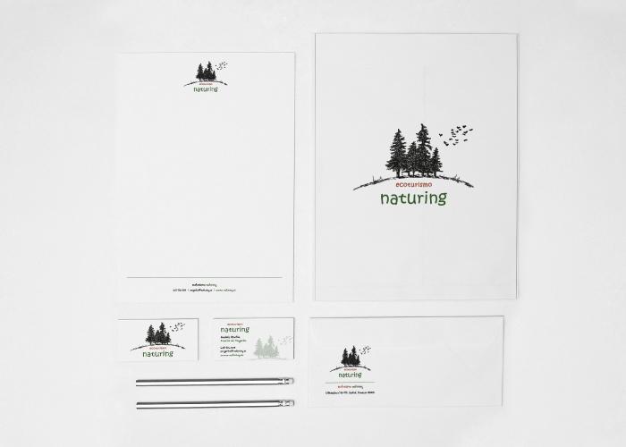 Diseño identidad corporativa naturaleza