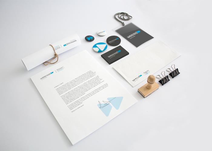 Diseño identidad empresa multimedia