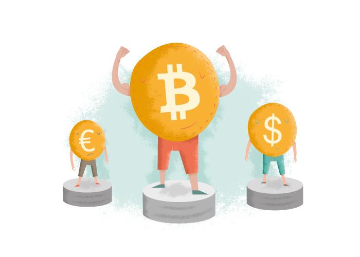 Ilustraciones para la web de una moneda digital