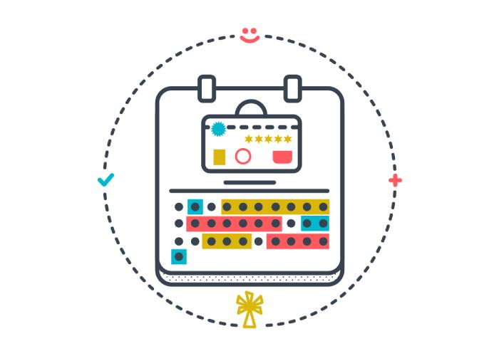Diseño de ilustraciones para web dedicada a la venta y reserva online de viajes turísticos