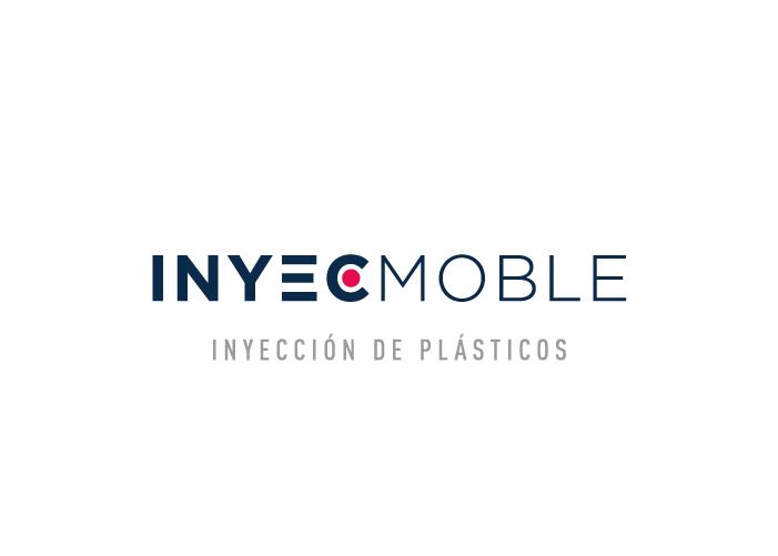 El logo de Inyecmoble, empresa de inyección de plástico, en fondo blanco y con descriptor