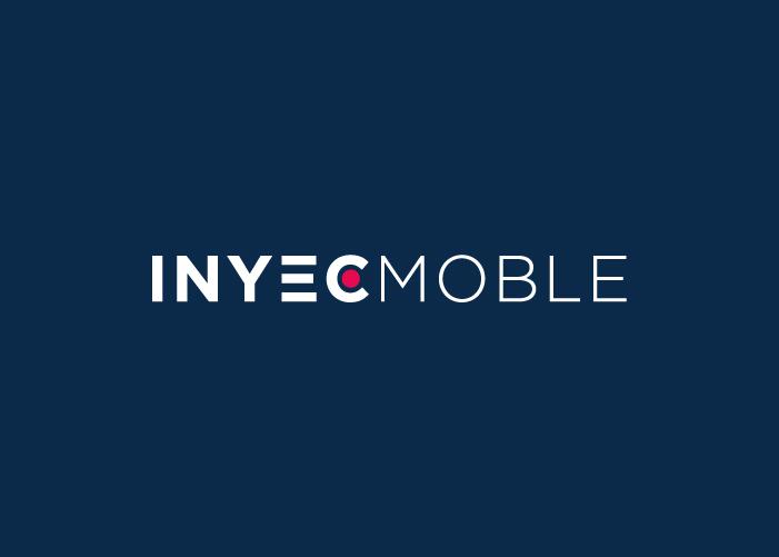 Logo de Inyecmoble con fondo azul