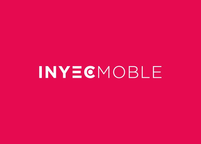 Logotipo de Inyecmoble con fondo rojo