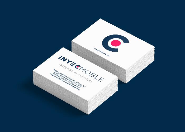Propuesta de diseño de tarjetas para Inyecmoble, empresa de inyección de plástico