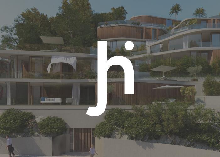 Isotipo Jordi Herrero Arquitectos en negativo