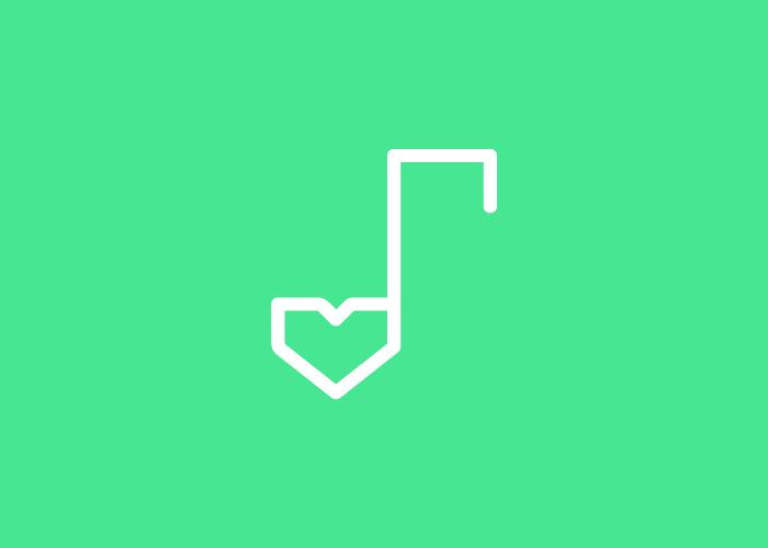 Diseño logo amor + música