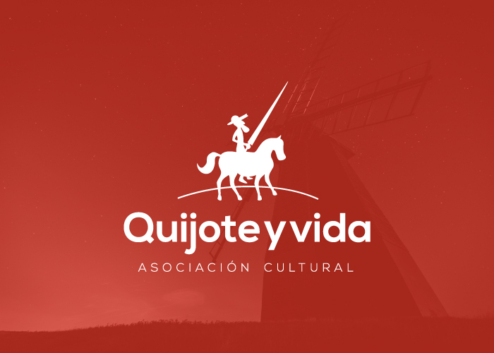 """Diseño de logotipo para la asociación cultural """"Quijote y vida"""""""