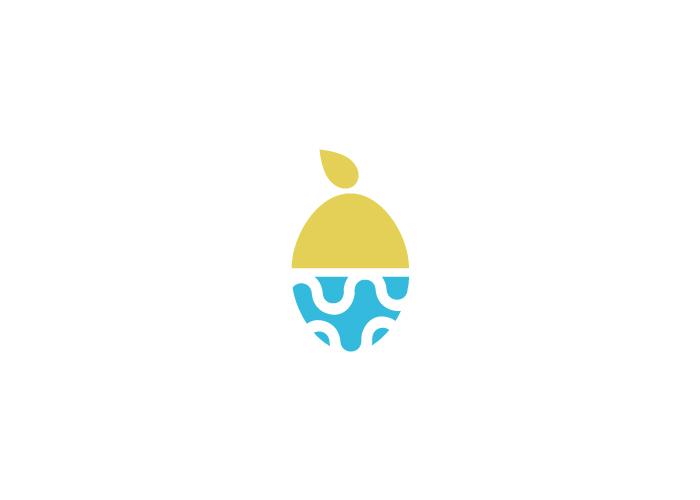 Diseño de limón y aguacate para el logo de una empresa de exportación de frutas tropicales