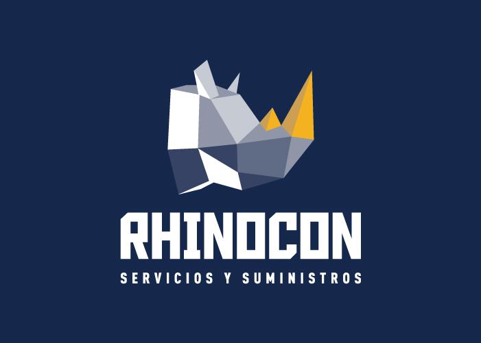 Diseño de logo rinoceronte para construcción