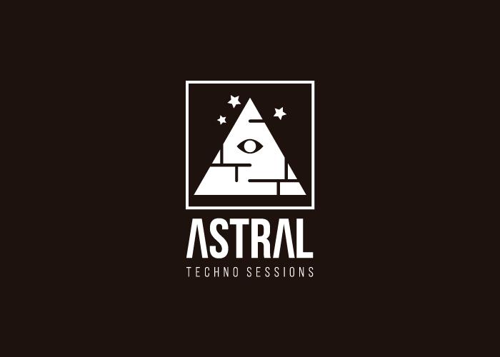Diseño marca música Techno