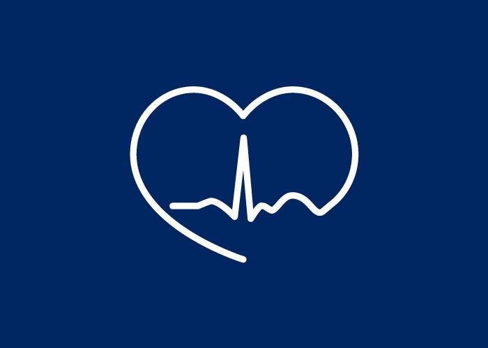 Diseño de logo electrocardiograma