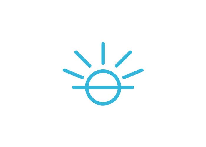 Diseño de logotipo sol para yoga