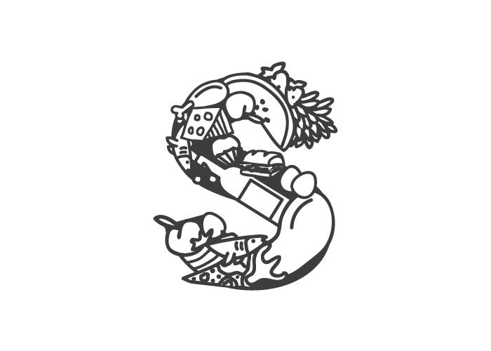 Diseño de logotipo para supermercado de productos de alimentación