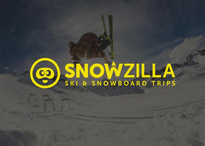 Diseño logotipo empresa organización de viajes a la nieve