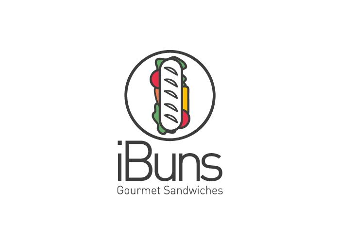 Diseño de logotipo para restaurante mexicano especializado en sandwiches gourmet