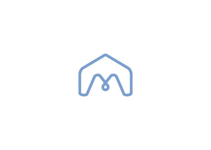 """Diseño de imagotipo """"m"""" y casa"""