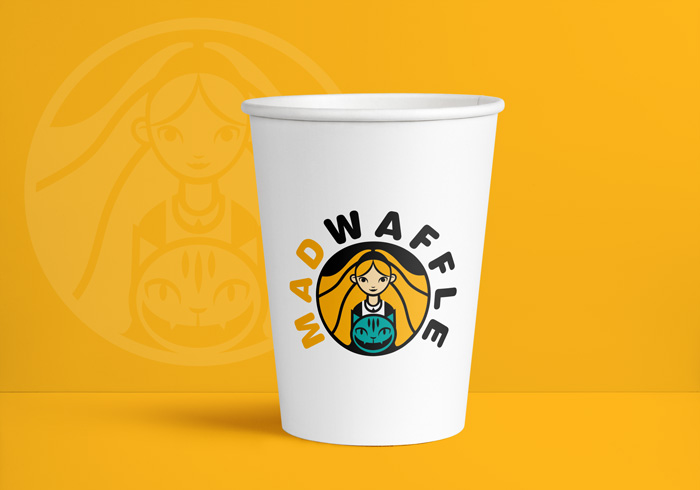 diseño logo taza de café